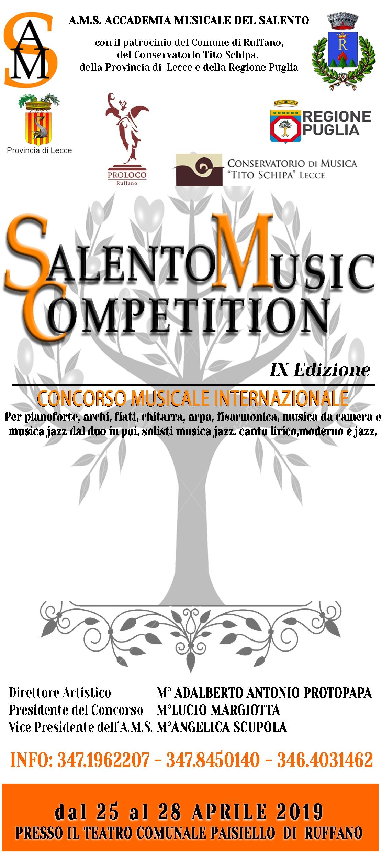SALENTO MUSIC COMPETITION IX ed. Concorso Musicale Internazionale.