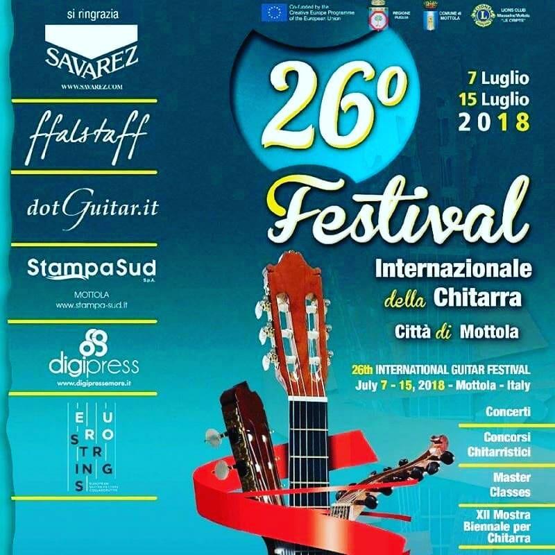 ALESSANDRO FERRARI ALL' INTERNATIONAL GUITAR COMPETITION DI MOTTOLA.